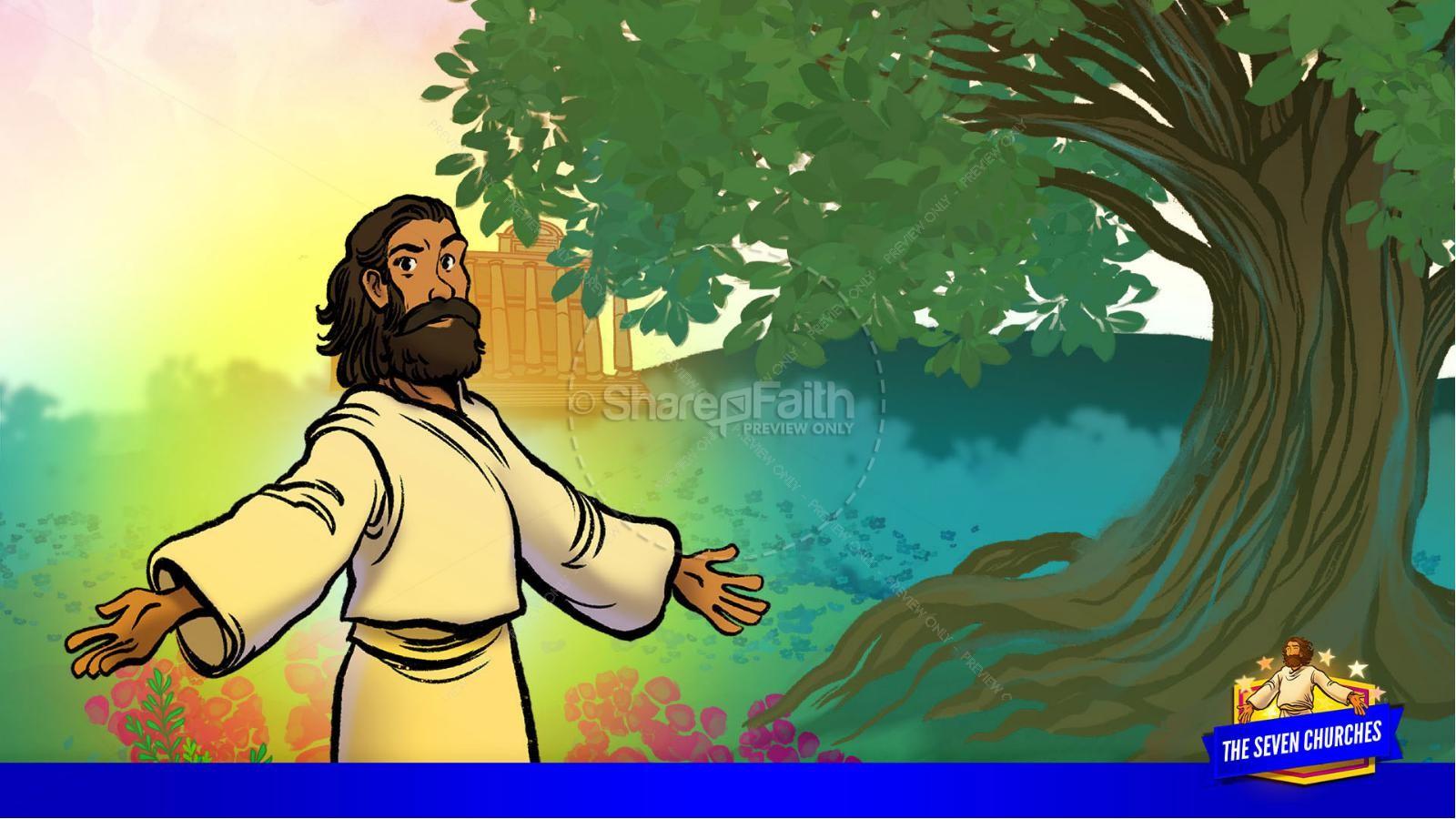 Revelation 2 3 The Seven Churches Kids Bible Story | slide 39