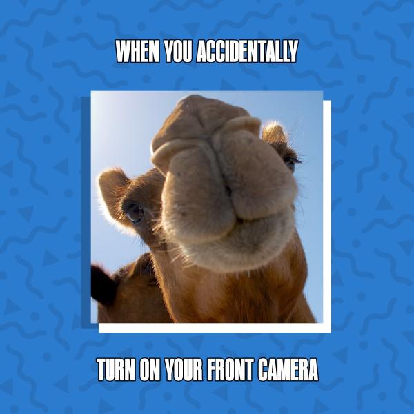 Front Cam Meme Social Media Graphic