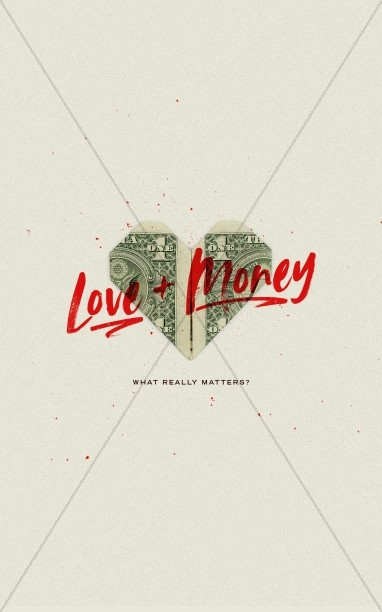 Love And Money Church Bifold Bulletin