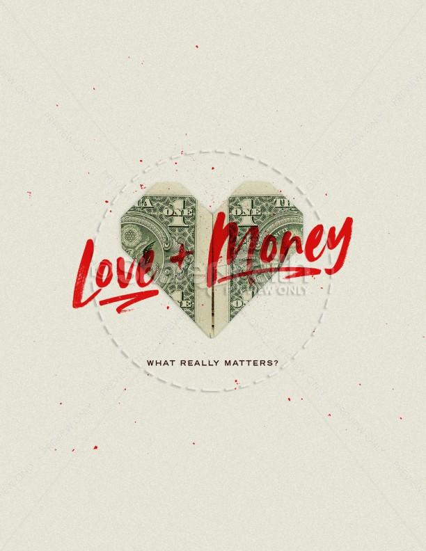 Love And Money Church Flyer