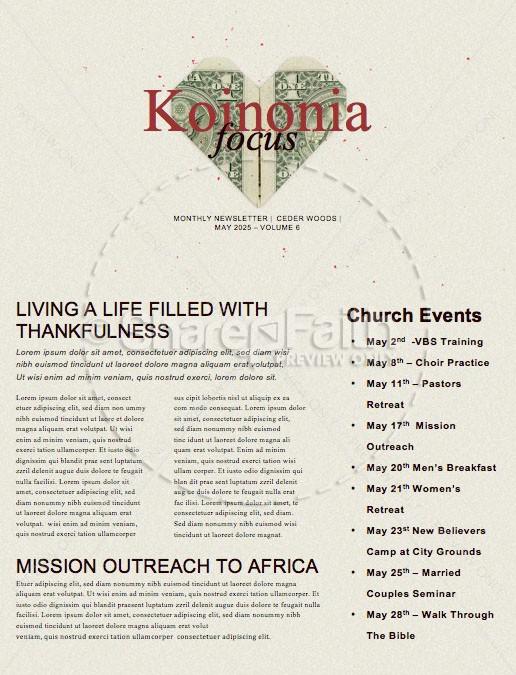 Love And Money Church Newsletter