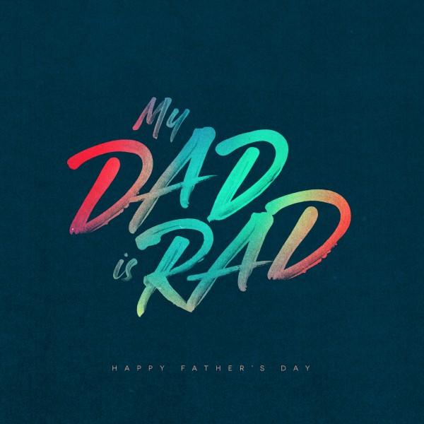 Dad Is Rad Church Social Media Graphic