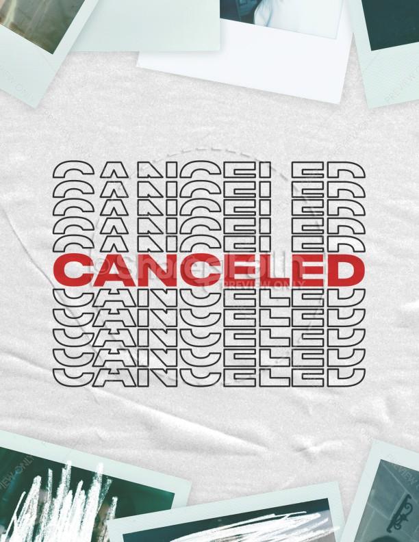 Canceled Church Flyer