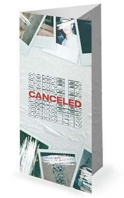Canceled Church Trifold Bulletin