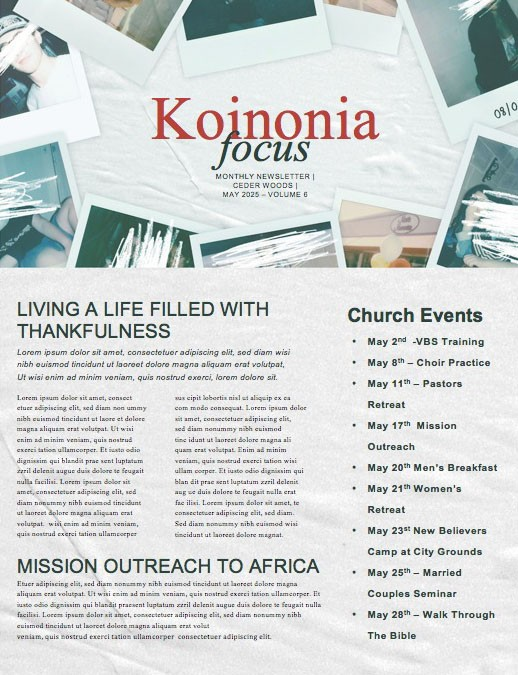 Canceled Church Newsletter