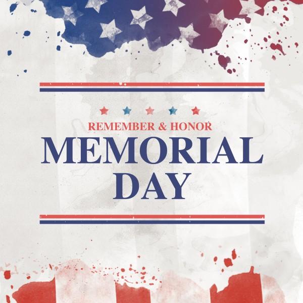 Memorial Day Flag Social Media Graphic