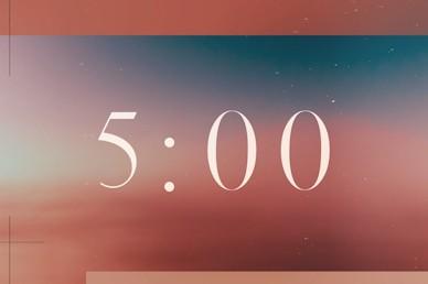 Jesus' Ascension Pink Blue Church Video 5min Countdown