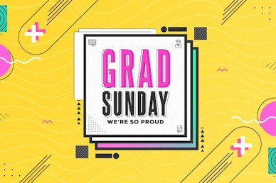 Grad Sunday Yellow Church Media Title