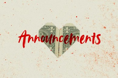 Love And Money Church Media Announcements