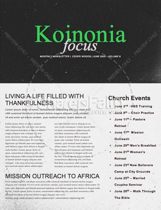 Tempted Church Newsletter