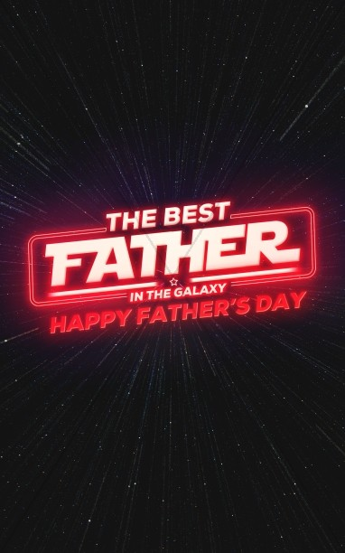Father's Day Galaxy Church Bifold Bulletin