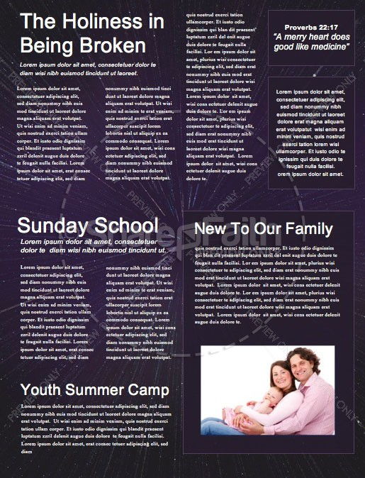 Father's Day Galaxy Church Newsletter