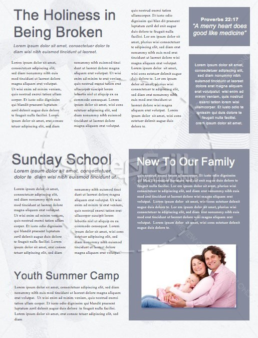 Father's Day Best Dad Church Newsletter