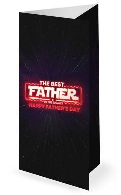 Father's Day Galaxy Church Trifold Bulletin