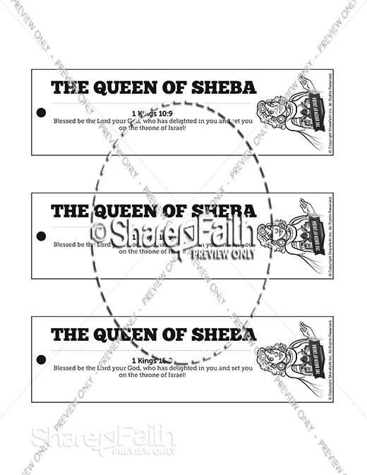 1 Kings 10 The Queen of Sheba Bible Bookmarks