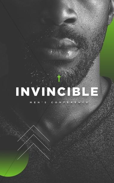 Invincible Men's Conference Church Bifold Bulletin