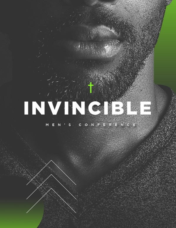 Invincible Men's Conference Church Flyer