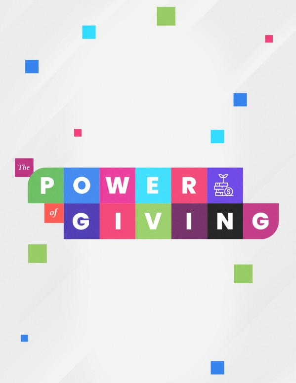 Power Of Giving Church Flyer