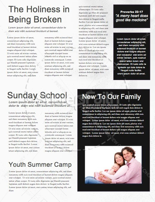 Invincible Men's Conference Church Newsletter