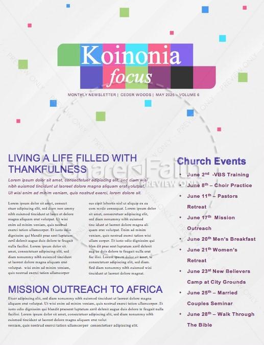 Power Of Giving Church Newsletter
