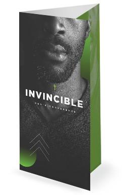 Invincible Men's Conference Church Trifold Bulletin