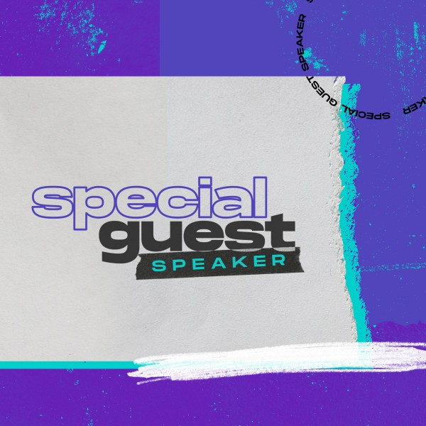 Special Guest Social Media Graphic