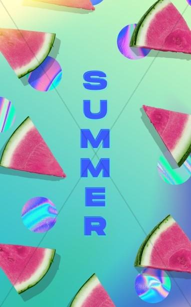 Summer Watermelon Church Bifold Bulletin