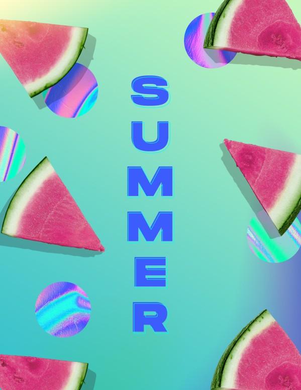 Summer Watermelon Church Flyer