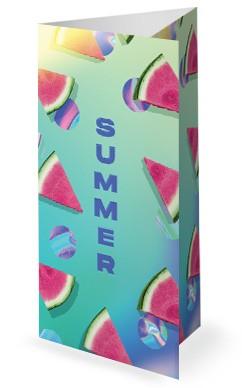 Summer Watermelon Church Trifold Bulletin