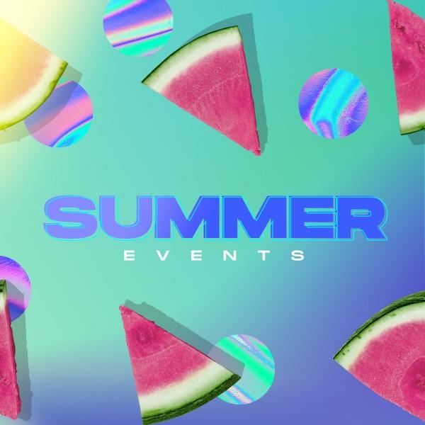 Summer Watermelon Social Media Graphic