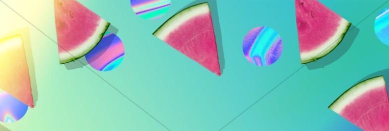Summer Watermelon Church Website Banner