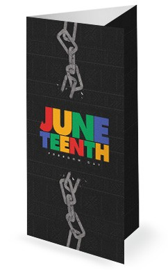 Juneteenth Freedom Church Trifold Bulletin
