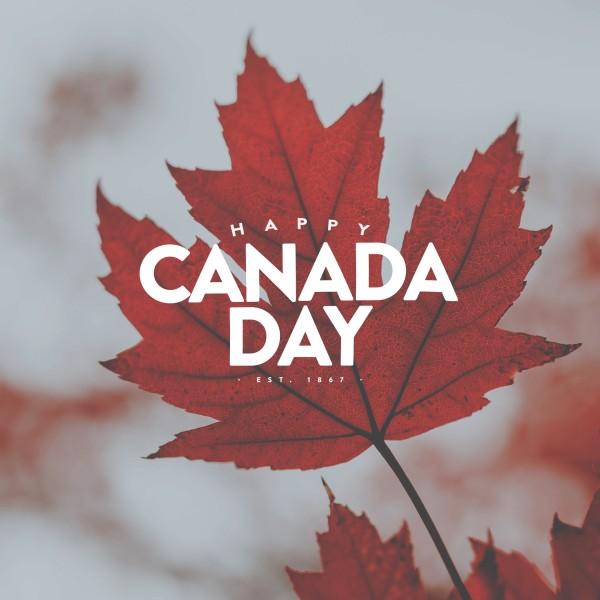 Happy Canada Day Social Media Graphic