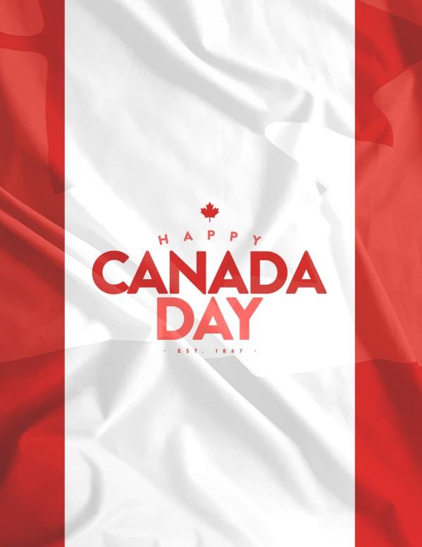 Canada Day Flag Church Flyer