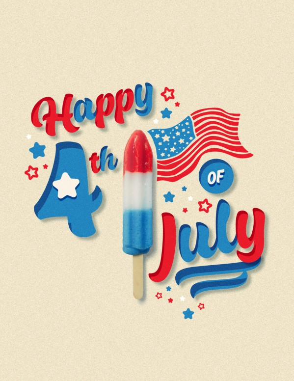 4th Of July Popsicle Church Flyer