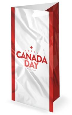Canada Day Flag Church Trifold Bulletin