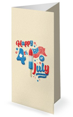 4th Of July Popsicle Church Trifold Bulletin