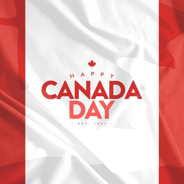 Canada Day Flag Social Media Graphic