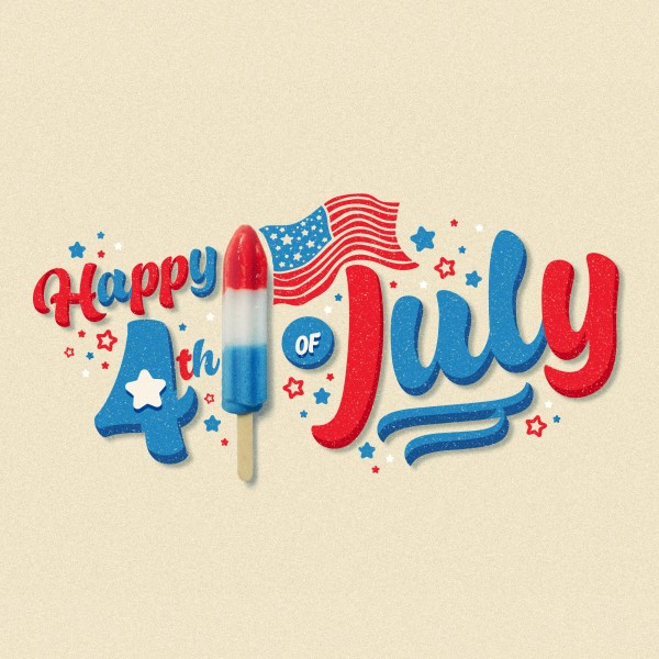 4th Of July Popsicle Social Media Graphic
