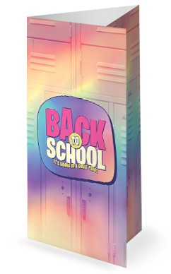 Back To School Lockers Church Trifold Bulletin