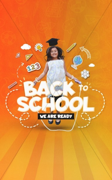Back To School Orange Church Bifold Bulletin