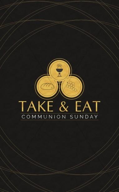 Communion Sunday Take Eat Church Bifold Bulletin