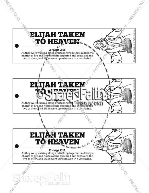 2 Kings 2 Elijah Taken to Heaven Bible Bookmarks