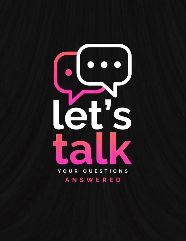 Let's Talk Church Flyer