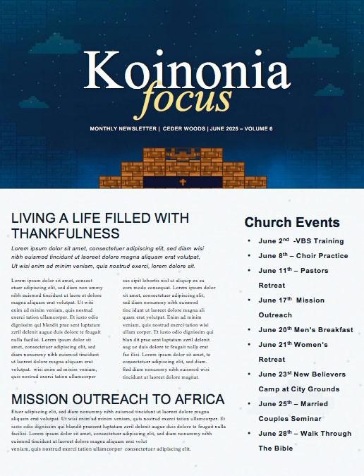 Level Up Church Newsletter