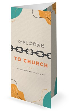 Celebrate Recovery Church Trifold Bulletin