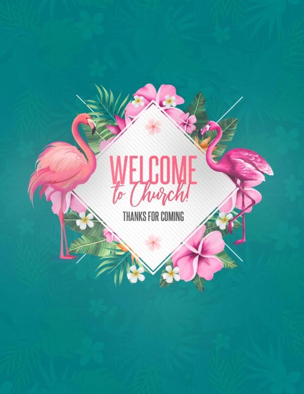 Flamingle Women's Group Church Flyer