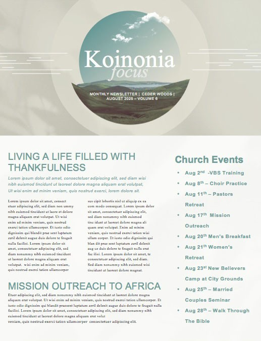 Grief Share Church Newsletter