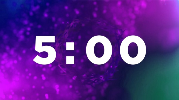Particles 5 minute Countdown Church Motion