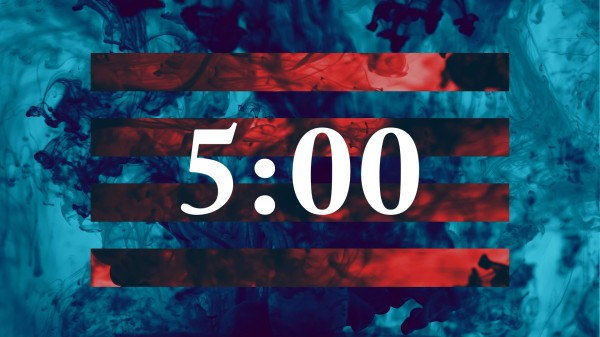 Ink Drop 5min Countdown Motion Graphics